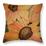 A Sunflower Surprise Throw Pillow