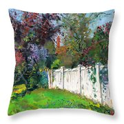 A Sunny Sunday Throw Pillow