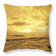 A Sunrise Over Oahu Hawaii Throw Pillow