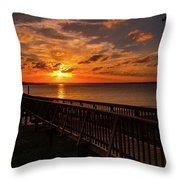 A Sunset At Spanish Wells Throw Pillow