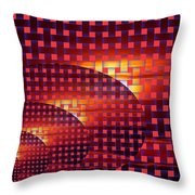 A Sunset In Weave Throw Pillow