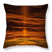A Sunset Throw Pillow