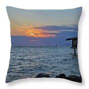 A Sunset On Berkeley Throw Pillow
