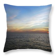 A Sunset On The Last Day At Sea Throw Pillow