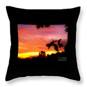 A Sunset With A Different Mood Throw Pillow