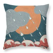 A Sunshine  Rain - Shower Throw Pillow