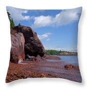 A Superior Red Rock Beach Throw Pillow
