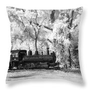A Surreal Train Ride Throw Pillow