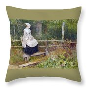 A Sussex Glade Throw Pillow