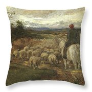 A Sussex Lane, 1872 Throw Pillow