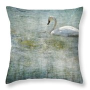 A Swan's Reverie Throw Pillow