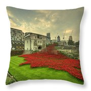 A Sweep Of Poppies  Throw Pillow
