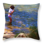A Sweet Cool Dip Throw Pillow
