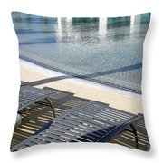 A Swimming Pool Throw Pillow