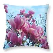 A Symphony Of Magnolia Flowers Throw Pillow