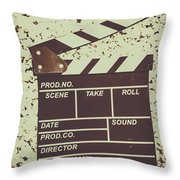 A Take From Old Hollywood Throw Pillow