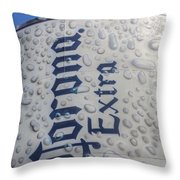 A Tall Cold One Throw Pillow