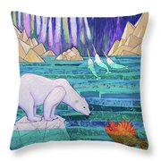 A Tale Of Light And Ice Throw Pillow