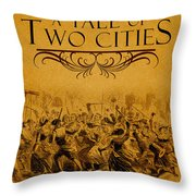 A Tale Of Two Cities Book Cover Movie Poster Art 1 Throw Pillow