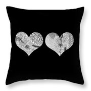 A Tale Of Two Hearts Throw Pillow