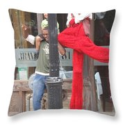 A Tall Composition Throw Pillow