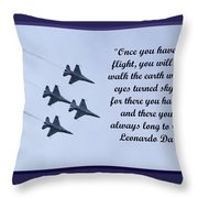 A Taste Of Flight Throw Pillow by April Wietrecki Green