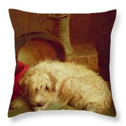 A Terrier Throw Pillow