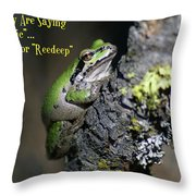 A Terrific Frog #1 Throw Pillow