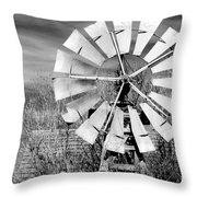 A Texas Windmill Throw Pillow