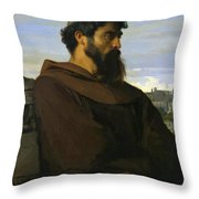 A Thinker A Young Roman Monk Throw Pillow