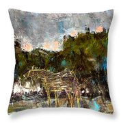 A Thirsty Horse Throw Pillow