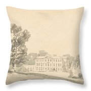 A Three Storied Georgian House In A Park Throw Pillow
