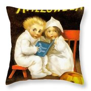 A Thrilling Halloween Throw Pillow