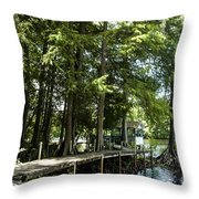 A Time To Go Fishing Throw Pillow