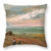A Time To Plant - Sold Throw Pillow