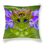 A Tiny Flower King Throw Pillow