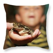 A Toad For You Throw Pillow