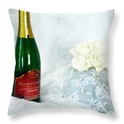 A Toast To Love And Laughter Throw Pillow