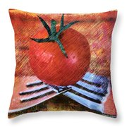 A Tomato Sketch Throw Pillow