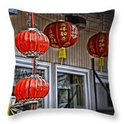 A Touch Of China Throw Pillow