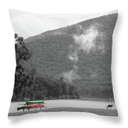 A Touch Of Color By The Lake Throw Pillow