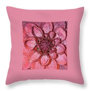 A Touch Of Coral Throw Pillow