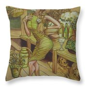 A Touch Of Daisy Throw Pillow