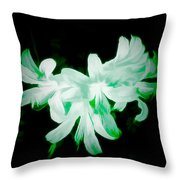 A Touch Of Green On The Lilies Throw Pillow