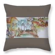 a touch of Holland scroll Throw Pillow
