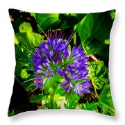 A Touch Of Violet Throw Pillow