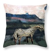 A Tough Horse  Throw Pillow