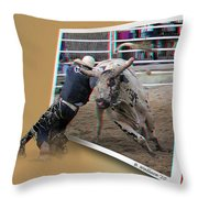 A Tough Sport - Use Red-cyan 3d Glasses Throw Pillow