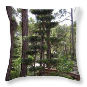 A Towering Tree Throw Pillow