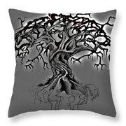 A Tree Throw Pillow